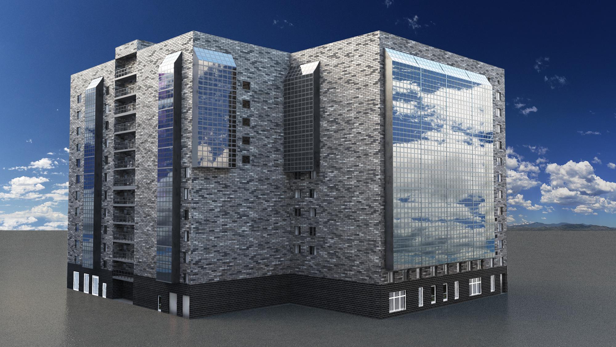 3D - модель и визуализация дома на Троицкой